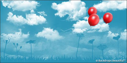 Backdrops: Clouds 8 Balloons
