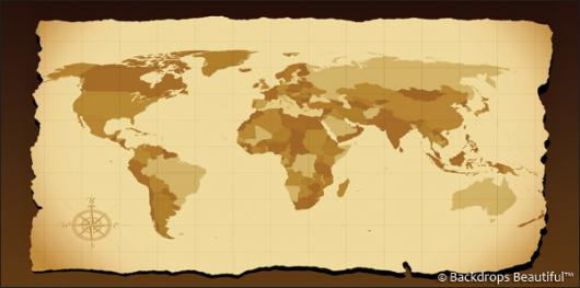 Backdrops: World Map 2 Antique
