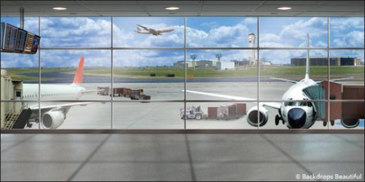 Backdrops: Airport Boarding Gate 1