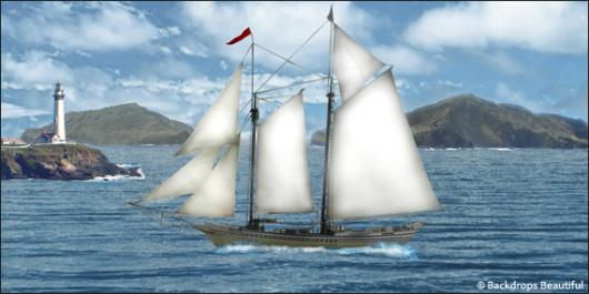 Backdrops: Windjammer 1