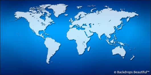 Backdrops: World Map 3 Blue