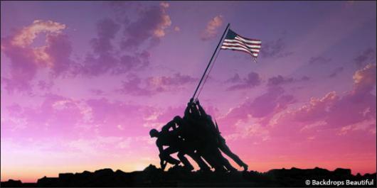 Backdrops: Raising the Flag 1
