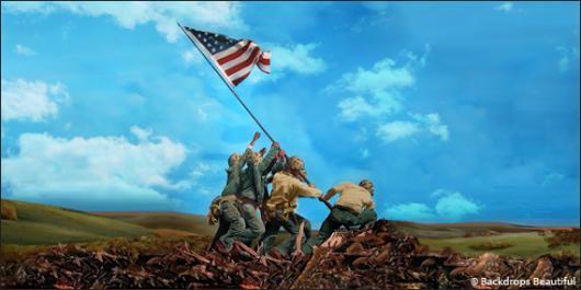 Backdrops: Raising the Flag 2