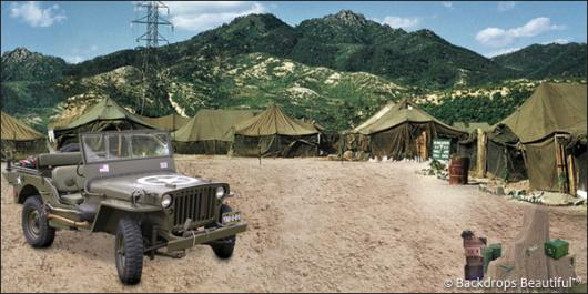 Backdrops: Military Camp 2