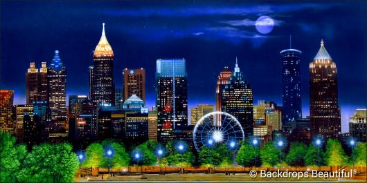 Backdrops Atlanta Skyline