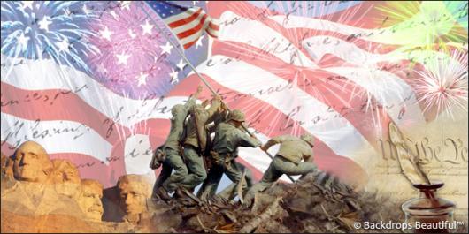 Backdrops: Raising the Flag 4