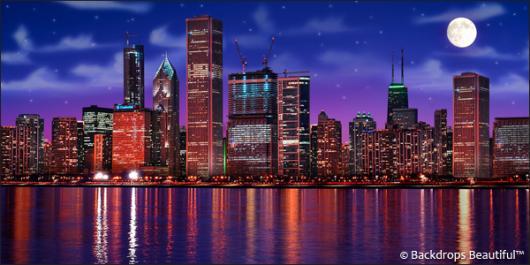 Chicago Skyline Backdrop 2 Backdrops Beautiful