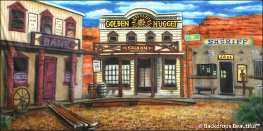 Backdrops: Old Western Town 3A