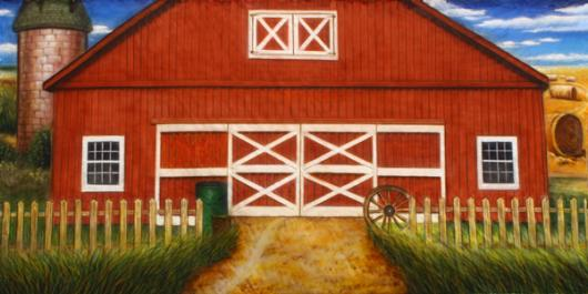 Backdrops: Barn 9 Exterior