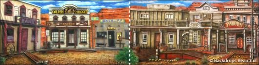 Backdrops: Old Western Town 3 Panel