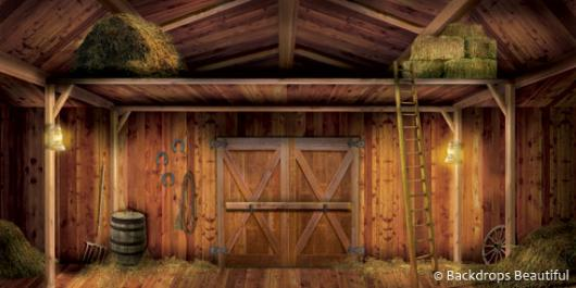 Barn Interior Backdrop 5 | Backdrops Beautiful