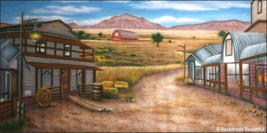 Backdrops: Prairie 1 Town