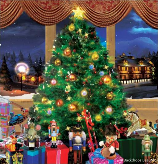 Backdrops: Xmas Tree 4