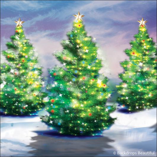 Backdrops: Xmas Trees 6