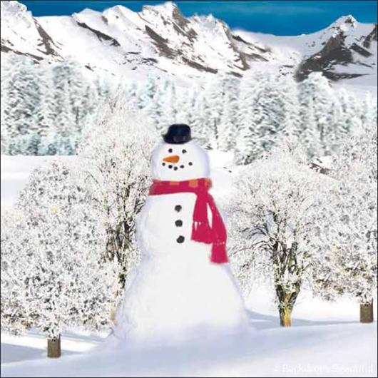 Backdrops: Snowman 2B