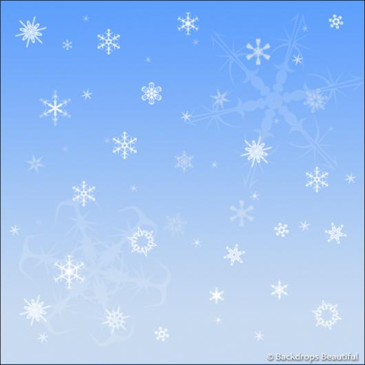Backdrops: Snowflakes 5