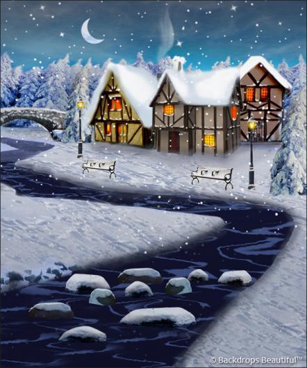 Backdrops: Winter Village 4B