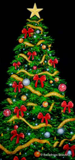 Backdrops: Xmas Growing Tree 1