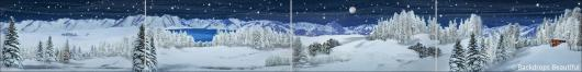Backdrops: Winter Landscape 3 Panel
