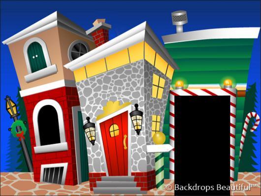 Backdrops: Xmas Town 1