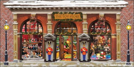 Backdrops: Xmas Toy Store 2