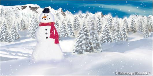Backdrops: Snowman 4B