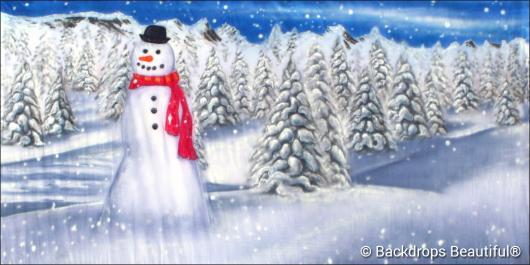 Backdrops: Snowman 4C