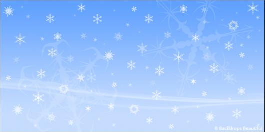 Backdrops: Snowflakes 1B