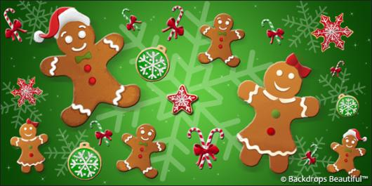 Backdrops: Gingerbread 1