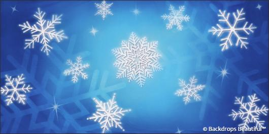 Backdrops: Snowflakes 6B
