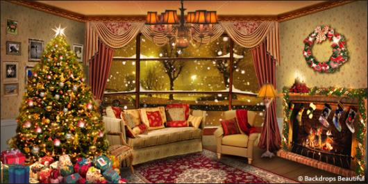 Xmas Home 7 & Backdrops Beautiful   Hand Painted Scenic Backdrop Rentals and Sales