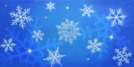 Backdrops: Snowflakes 8B