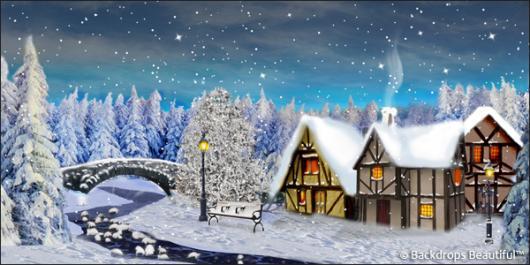 Backdrops: Winter Village 6A