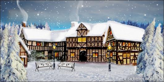 Backdrops: Winter Village 6B