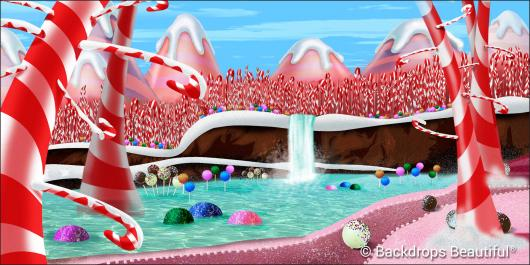 Backdrops: Candy Cane Forest 2