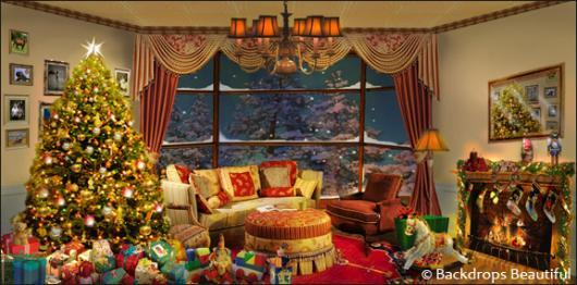 Backdrops: Xmas Home 1