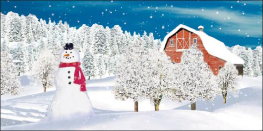 Backdrops: Snowman 3 Barn