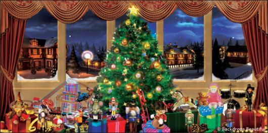 Backdrops: Xmas Nutcracker 3