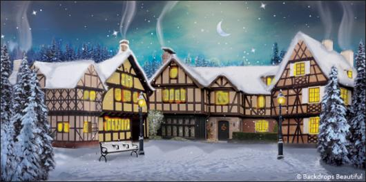Backdrops: Winter Village 2C