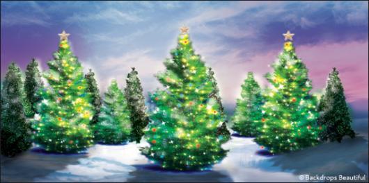 Backdrops: Xmas Trees 5a