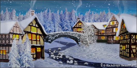 Backdrops: Winter Village 3