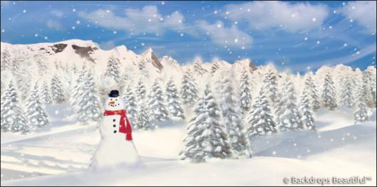 Backdrops: Snowman 1B
