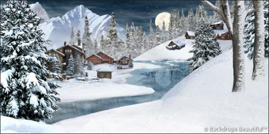 Backdrops: Winter Village 5