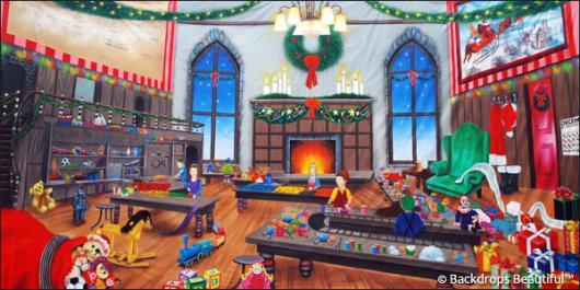 Backdrops: North Pole Workshop 3A