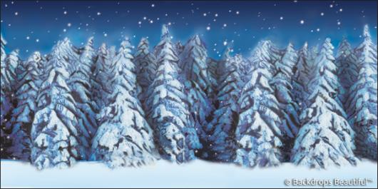 Backdrops: Winter Forest 6
