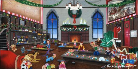 Backdrops: North Pole Workshop 3B