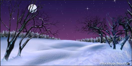 Backdrops: Winter Twilight 2A Moon