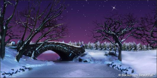 Backdrops: Winter Twilight 2B Bridge