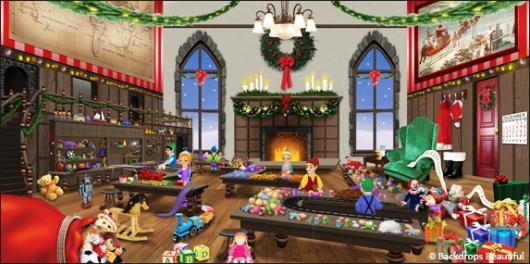 Backdrops: North Pole Workshop 3C