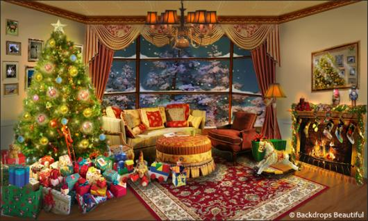 Backdrops: Xmas Home 6